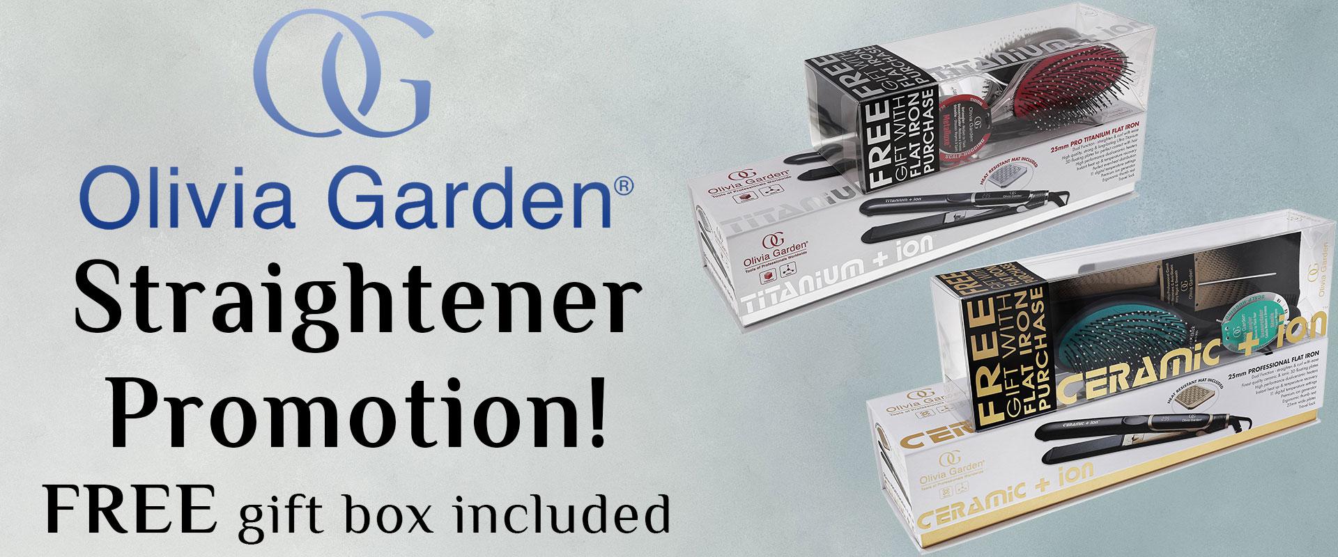 Olivia Garden Hair Straightener Promotion